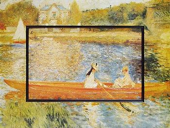 「アニエールのセーヌ川」ルノワール 【通信販売】(世界の名画・ルノワールアートポスター[絵画通販])【壁掛けフック付き】【絵のある暮らし】