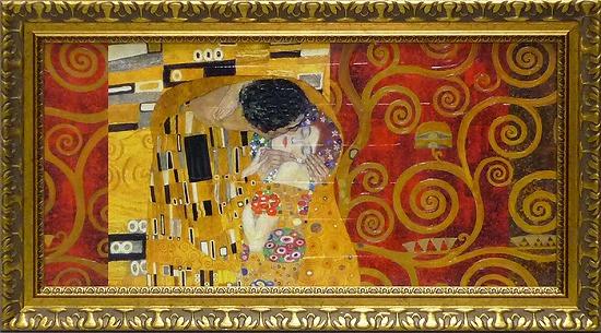 「ザ・キス」グスタフ クリムト【通信販売】(世界の名画・クリムトアートポスター[絵画通販])【壁掛けフック付き】【絵のある暮らし】