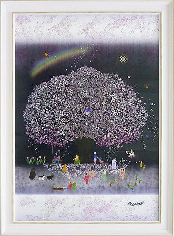 「春ウララ」なかのまりの 特殊ゲル加工アート[絵画通販]【壁掛けフック付き】【絵のある暮らし】
