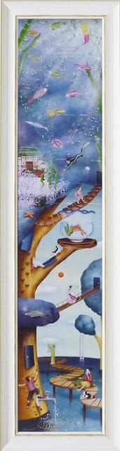 【代引不可・お届け日時間指定不可】「Water tree」なかのまりの 特殊ゲル加工アート[絵画通販]【壁掛けフック付き】【絵のある暮らし】