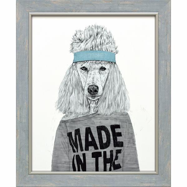 「エイティーズビッチ」バラズス ショルティ アートポスター[絵画通販]犬 ドッグ いぬ 絵 絵画【絵のある暮らし】【壁掛けフック付き】
