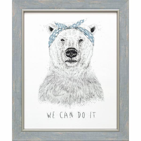 「ウィキャンドゥイット」バラズス ショルティ アートポスター[絵画通販]くま クマ しろくま 白熊 動物 絵 絵画【絵のある暮らし】【壁掛けフック付き】