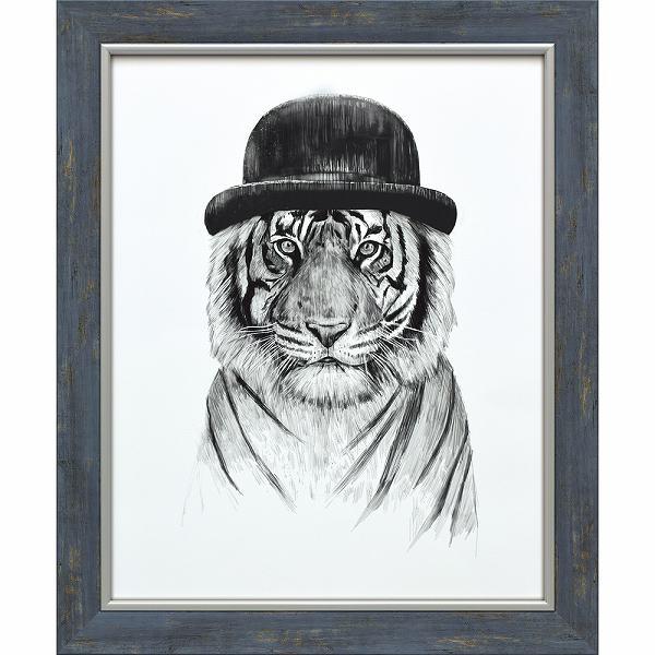 「ウェルカムトゥザジャングル」バラズス ショルティ アートポスター[絵画通販]とら トラ タイガー  動物 絵 絵画【絵のある暮らし】【壁掛けフック付き】