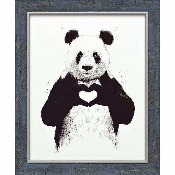 「オールユーニードイズラブ」バラズス ショルティ アートポスター[絵画通販]パンダ ぱんだ 動物 絵 絵画【絵のある暮らし】【壁掛けフック付き】