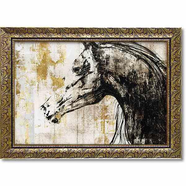 「イクエストリアンゴールド2」PIスタジオ 特殊ゲル加工アート[絵画通販・馬]うま ウマ 馬 アート 絵 絵画【壁掛けフック付き】【絵のある暮らし】