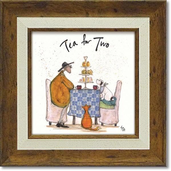 可愛い雰囲気!「みんなでお茶」サム トフト 「みんなでお茶」サムトフト・可愛い雰囲気の特殊ゲル加工アート[絵画通販]【壁掛けフック付き】【絵のある暮らし】