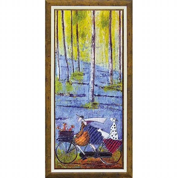 「スプリング」サムトフト 可愛い雰囲気の特殊ゲル加工アート[絵画通販]【壁掛けフック付き】【絵のある暮らし】