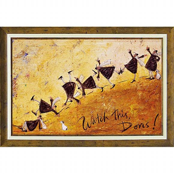 「見て!ドリス!」サムトフト 可愛い雰囲気の特殊ゲル加工アート・犬・イヌ・いぬ[絵画通販]【壁掛けフック付き】【絵のある暮らし】