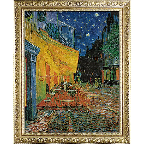 「夜のカフェテラス」ゴッホ(世界の名画・ゴッホ[絵画通販])【壁掛けフック付き】【絵のある暮らし】