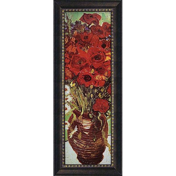 「花瓶のデイジーとポピー」ゴッホ 世界の名画・ゴッホアートポスター[絵画通販]【壁掛けフック付き】【絵のある暮らし】