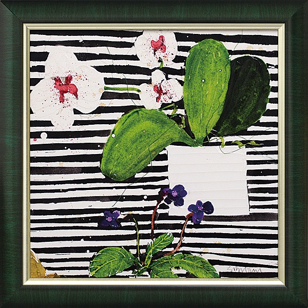 「ホットハウスオーキッド」スーザンブラウン ・花 アートポスター[絵画通販]【壁掛けフック付き】【絵のある暮らし】