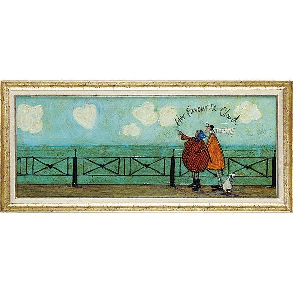 「彼女の好きなハート雲」サムトフト・可愛い雰囲気の特殊ゲル加工アート[絵画通販]【壁掛けフック付き】【絵のある暮らし】