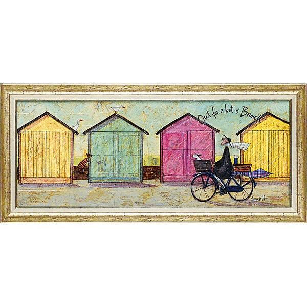 「ちょいとブランチに」サムトフト・可愛い雰囲気の特殊ゲル加工アート[絵画通販]【壁掛けフック付き】【絵のある暮らし】