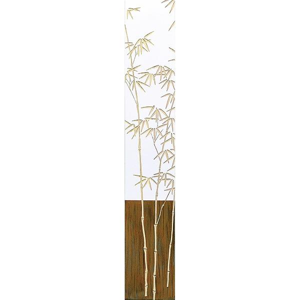 ウッドスカルプチャーアート・バンブー2(wh+np)[絵画通販]【絵のある暮らし】【壁掛けフックつき】