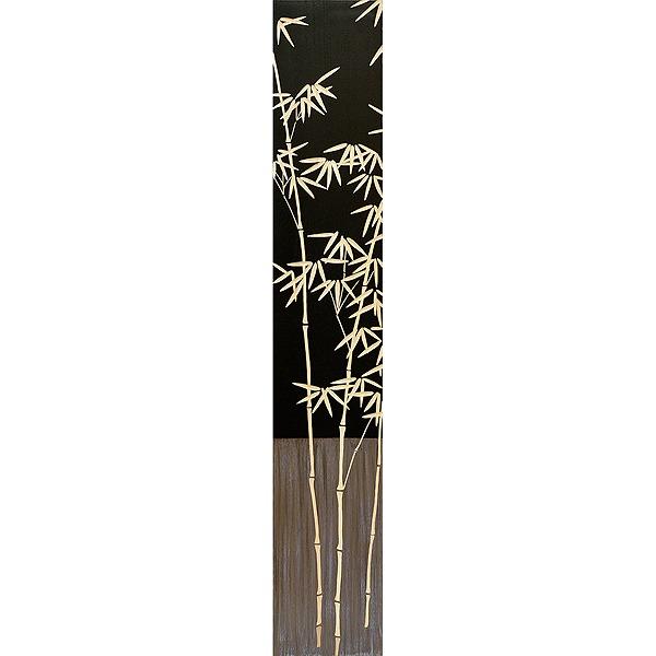 ウッドスカルプチャーアート・バンブー2(bk+np)[絵画通販]【絵のある暮らし】【壁掛けフックつき】