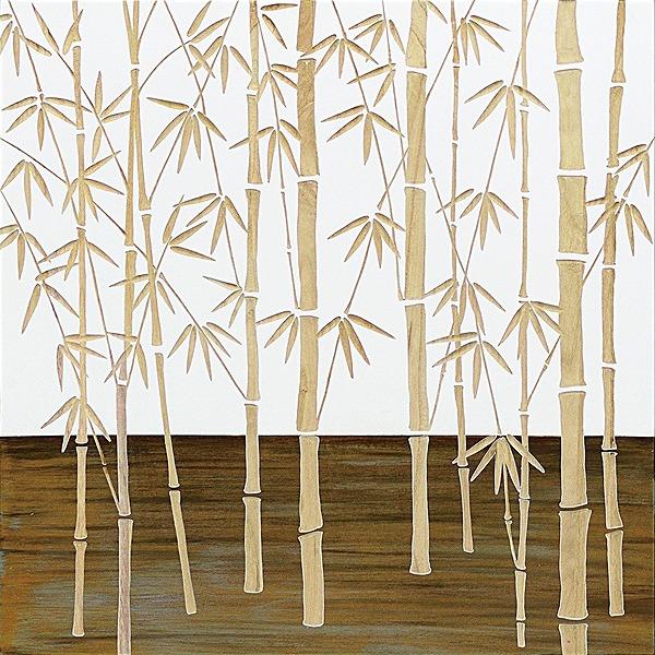 ウッドスカルプチャーアート・フォレストバンブー(wh+np)[絵画通販]【絵のある暮らし】【壁掛けフックつき】