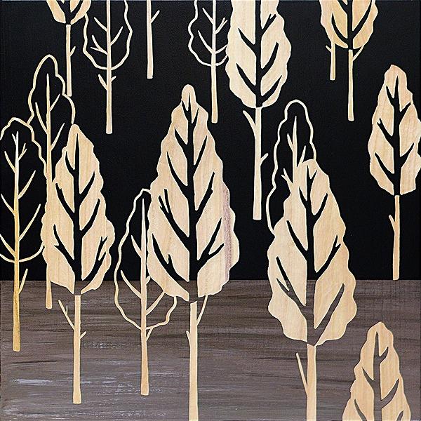 ウッドスカルプチャーアート・フォレストツリー(bk+np)[絵画通販]【絵のある暮らし】【壁掛けフックつき】