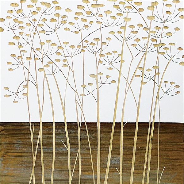 ウッドスカルプチャーアート・フィールドフラワー2(wh+np)[絵画通販]【絵のある暮らし】【壁掛けフックつき】