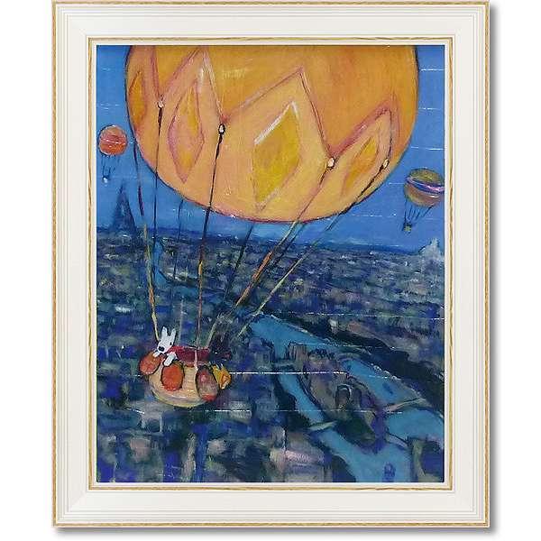 「気球」リサとガスパール【通信販売】(こども・絵・特殊ゲル加工アート[絵画通販])【壁掛けフック付き】【絵のある暮らし】