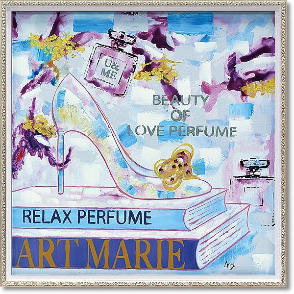 「アートマリー」Mサイズ ・油絵・ハンドペイント・ハイヒール・オイルペイントモダンアート[絵画通販]【絵のある暮らし】【壁掛けフック付き】