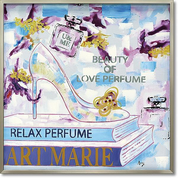 【代引不可】【お届け日時間指定不可】「アートマリー」ハイヒール・油絵・ハンドメイド・オイルペイントモダンアート[絵画通販]【絵のある暮らし】【壁掛けフック付き】