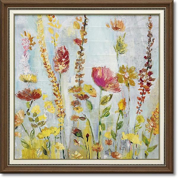 「レインドロップガーデン」ローラゴールド (花 ・風景画アートポスター)[絵画通販]【壁掛けフック付き】【絵のある暮らし】