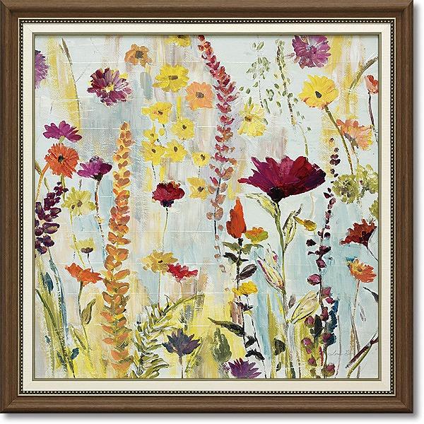 「レイニーデイガーデン」ローラゴールド (花 ・風景画アートポスター)[絵画通販]【壁掛けフック付き】【絵のある暮らし】