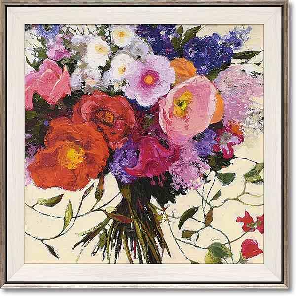「ブーケ ドゥ プランタン」シャーリー ノヴァック (花 ・風景画アートポスター)[絵画通販]【壁掛けフック付き】【絵のある暮らし】