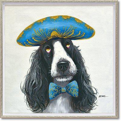 「ナポレオンドッグ」Mサイズ オイルペイントモダンアート[絵画通販]犬・いぬ・イヌ・ハンドメイド・油絵・動物・絵【絵のある暮らし】【壁掛けフック付き】