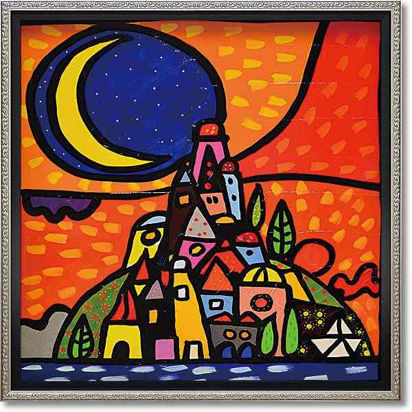 「ルーナスッラコリーナ」ウォーラス 風景画アートポスター ゲル加工絵画作品[絵画通販]【壁掛けフック付き】【絵のある暮らし】