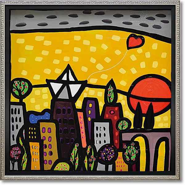 「イルクオーレ」ウォーラス 風景画アートポスター ゲル加工絵画作品[絵画通販]【壁掛けフック付き】【絵のある暮らし】