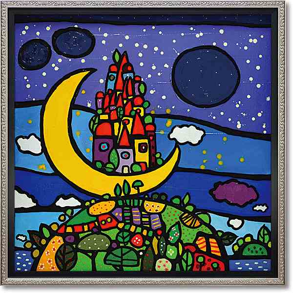 「ソーニョルナーレ」ウォーラス 風景画アートポスター ゲル加工絵画作品[絵画通販]【壁掛けフック付き】【絵のある暮らし】