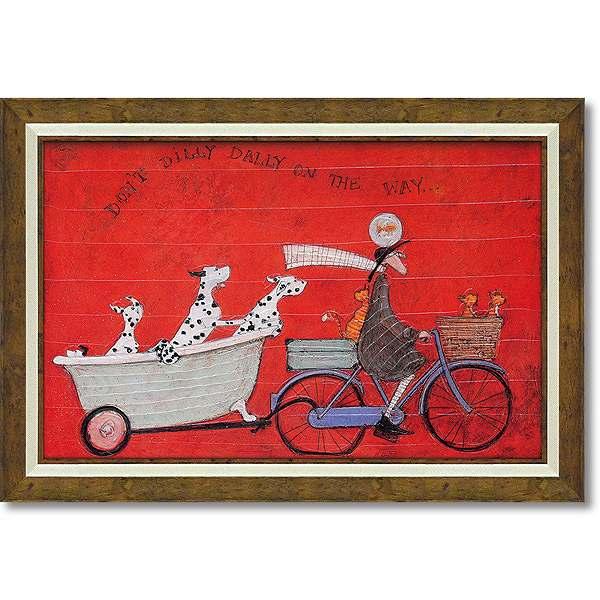 「ドンドディリダリー」サムトフト 可愛い雰囲気の特殊ゲル加工アート・犬・イヌ・いぬ[絵画通販]【壁掛けフック付き】【絵のある暮らし】