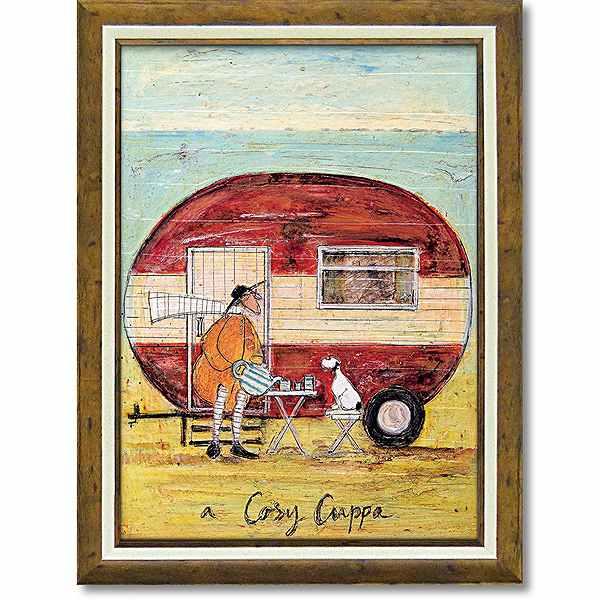 「コージーカッパ」サムトフト 可愛い雰囲気の特殊ゲル加工アート[絵画通販]【壁掛けフック付き】【絵のある暮らし