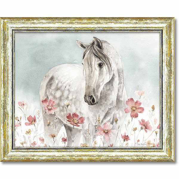 「ワイルドホース1」リサ オーディット (馬・動物・絵・絵画)特殊ゲル加工アートポスター[絵画通販]【壁掛けフック付き】【絵のある暮らし】