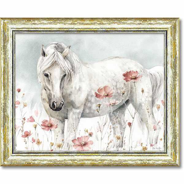 「ワイルドホース2」リサ オーディット (馬・動物・絵・絵画)特殊ゲル加工アートポスター[絵画通販]【壁掛けフック付き】【絵のある暮らし】