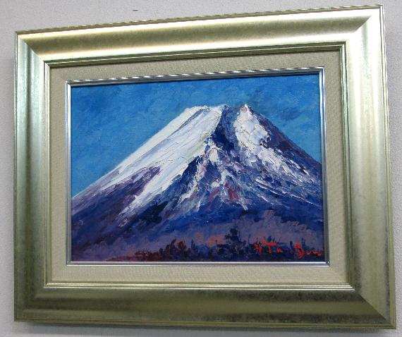 「富士山」谷口春彦(F4サイズ油彩画[油絵]直筆油彩画・富士山風景・世界遺産[絵画通販]【壁掛けフック付き】【絵のある暮らし】