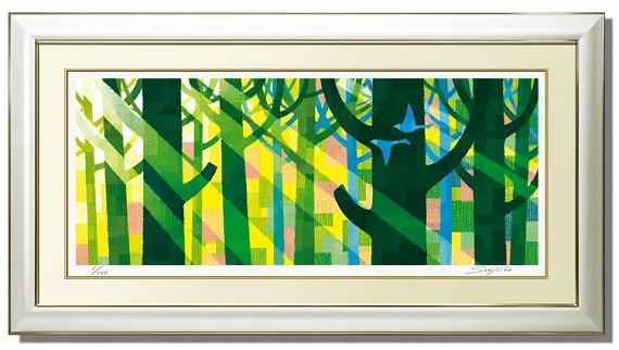 ランキング1位獲得作品「幸せの青い鳥」藤谷壮仁郎(Soujirou)ジークレー版画作品(WAシリーズ・和TASTE)(絵画通販)(ヒーリングアート)幸せの青い鳥特大サイズ【壁掛けフック付き】【絵のある暮らし】