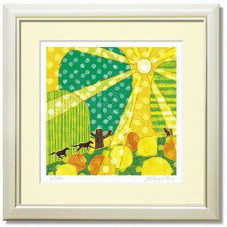 「run up」藤谷壮仁郎(Soujirou)ジークレー版画作品・40角(Aシリーズ・ABSTRACT ART)(絵画通販)【壁掛けフック付き】【絵のある暮らし】
