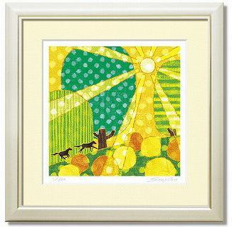 「run up」藤谷壮仁郎(Soujirou)ジークレー版画作品・30角(Aシリーズ・ABSTRACT ART)(絵画通販)【壁掛けフック付き】【絵のある暮らし】
