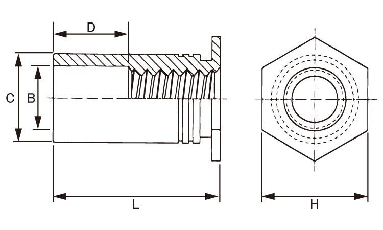 PEMスタンドオフ材質(ステンレス)規格(SOS-M4-25)入数(1000)