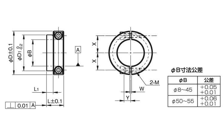 セパレートカラーBR固定用ロング材質(ステンレス)規格(SS1712SLB2)入数(30)