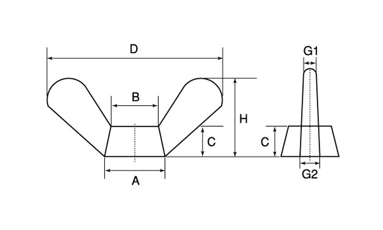 蝶ナット(1種)規格(M18(D=90)入数(15)