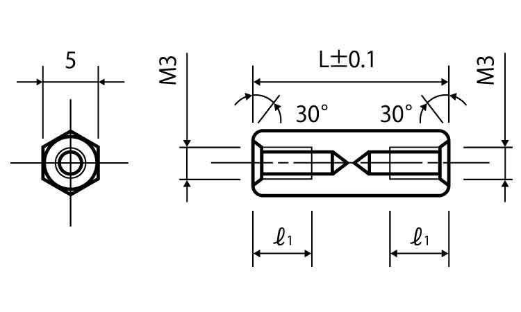 ステン6カクスペーサーASU規格(318-5)入数(500)