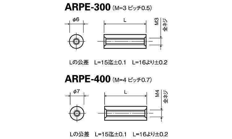 ピークマルスペーサーARPE規格(320)入数(200)