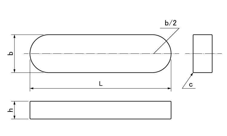 キュウJISリョウマルキー規格(20X13X45)入数(25)