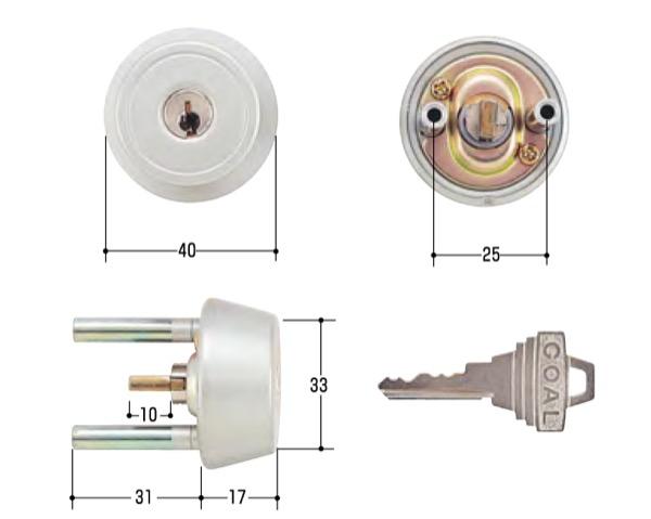 TX37用玄関取替交換用シリンダーGOAL TX37用, ミマサカチョウ:c8b9af22 --- m2cweb.com