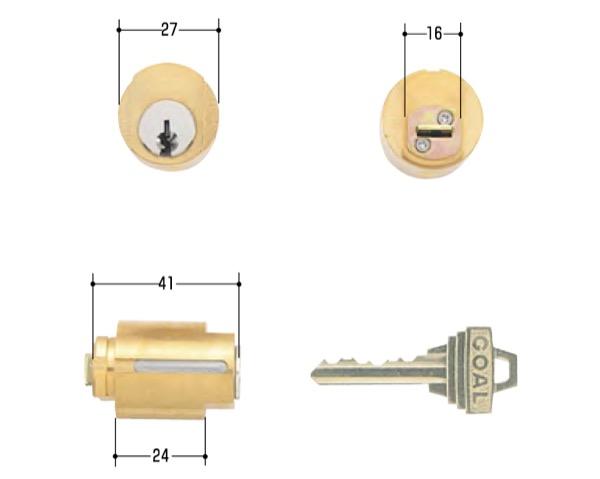 玄関取替交換用シリンダーGOAL LX5 ハイム シルセット
