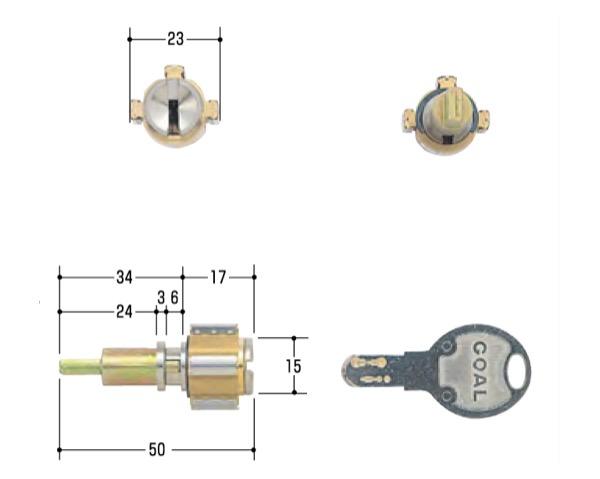 シリンダー錠取替え シリンダー交換シリーズ <セール&特集> 奉呈 玄関取替交換用シリンダーGOAL D-PX CAP-1 シルセット