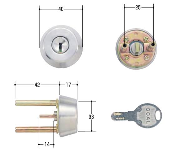 シリンダー錠取替え マーケティング シリンダー交換シリーズ タイムセール 玄関取替交換用シリンダーGOAL シルセット CAP-4 D-GZ
